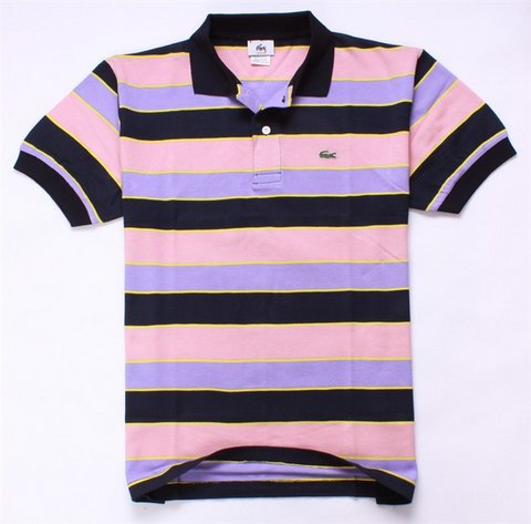 Wholesale men 39 s lacoste striped polo shirts no 752 for Discount lacoste mens polo shirts
